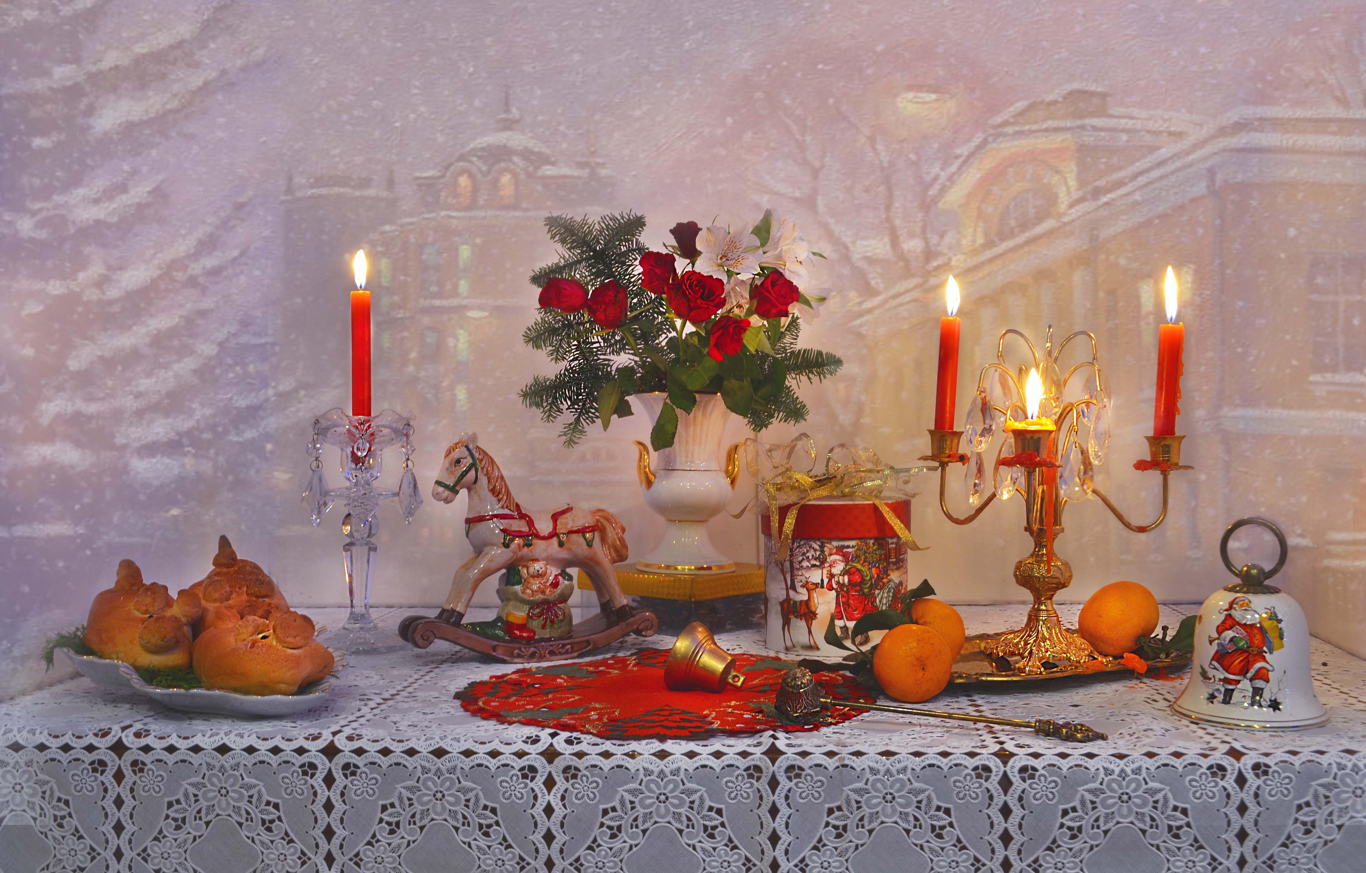 still life,натюрморт,фото натюрморт,зима, январь, праздник закончился, настроение, свечи, подсвечник, Колова Валентина