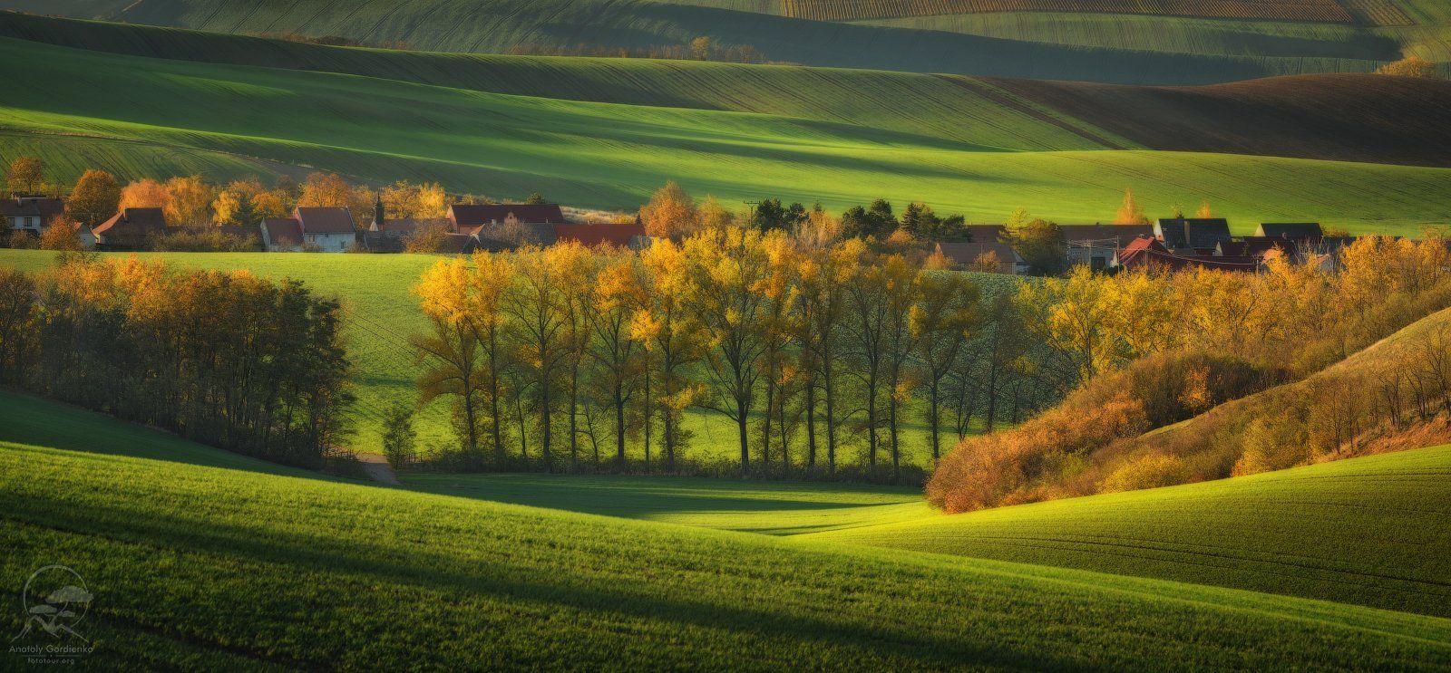 пейзаж, природа, поле, моравия, чехия, Анатолий Гордиенко www.fototour.org