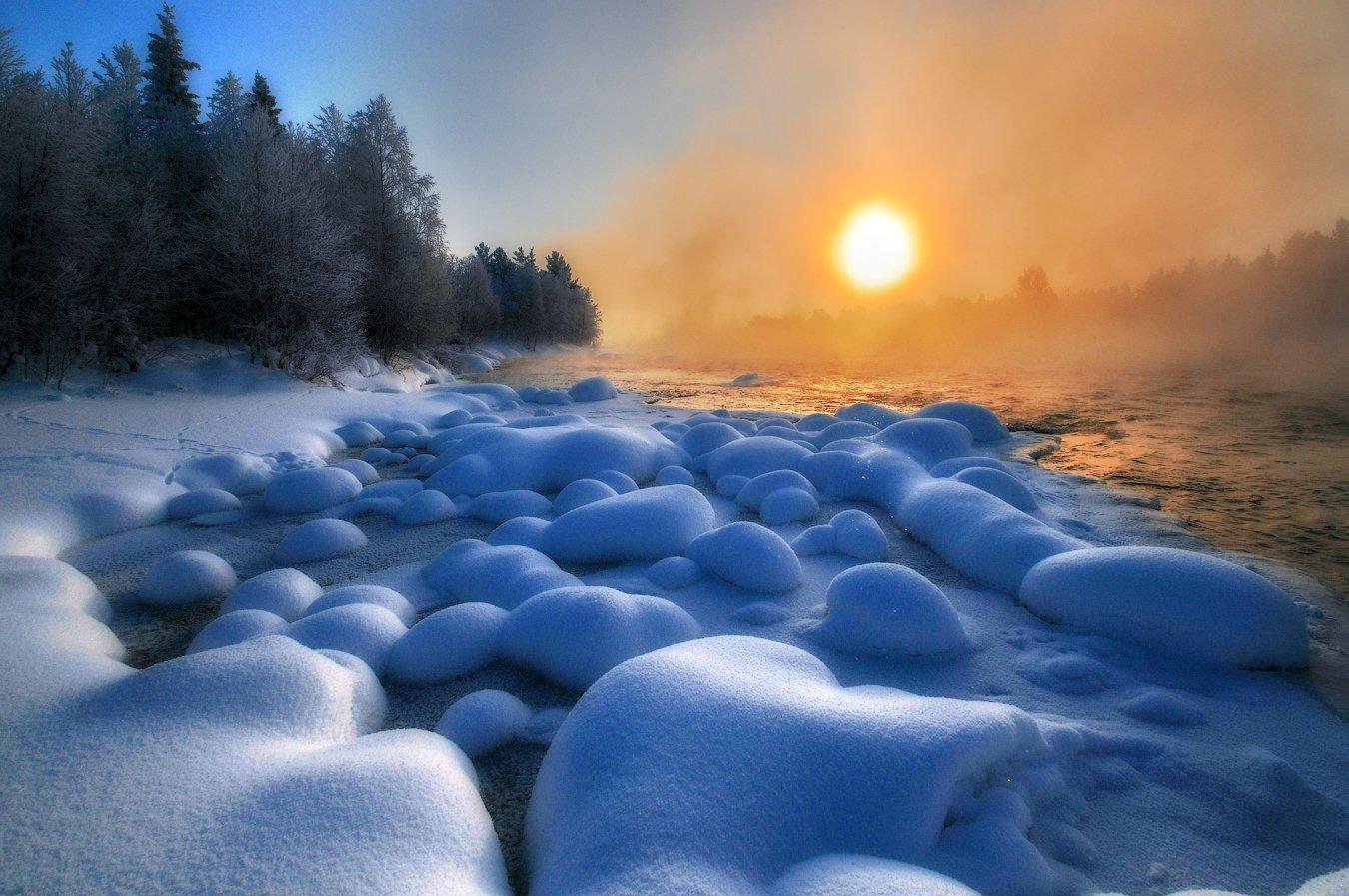 кольский, север,заполярье, пиренга, зима,, Роман Горячий
