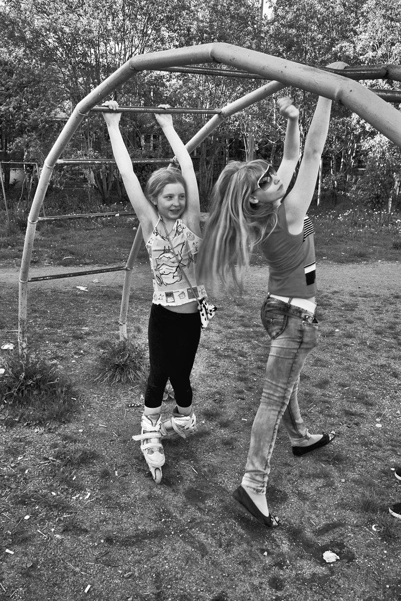 дети, детвора, двор, чб, апатиты, Николай Смоляк
