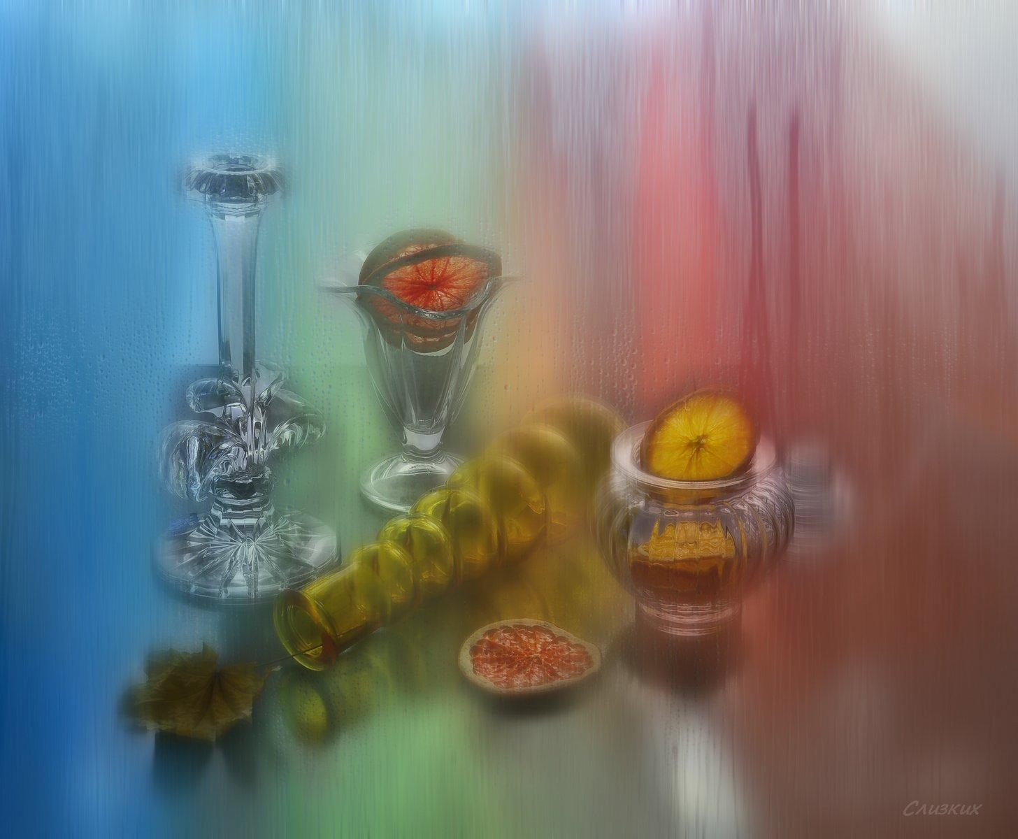 композиция,капли,стекло,цвет,свет, Инаида