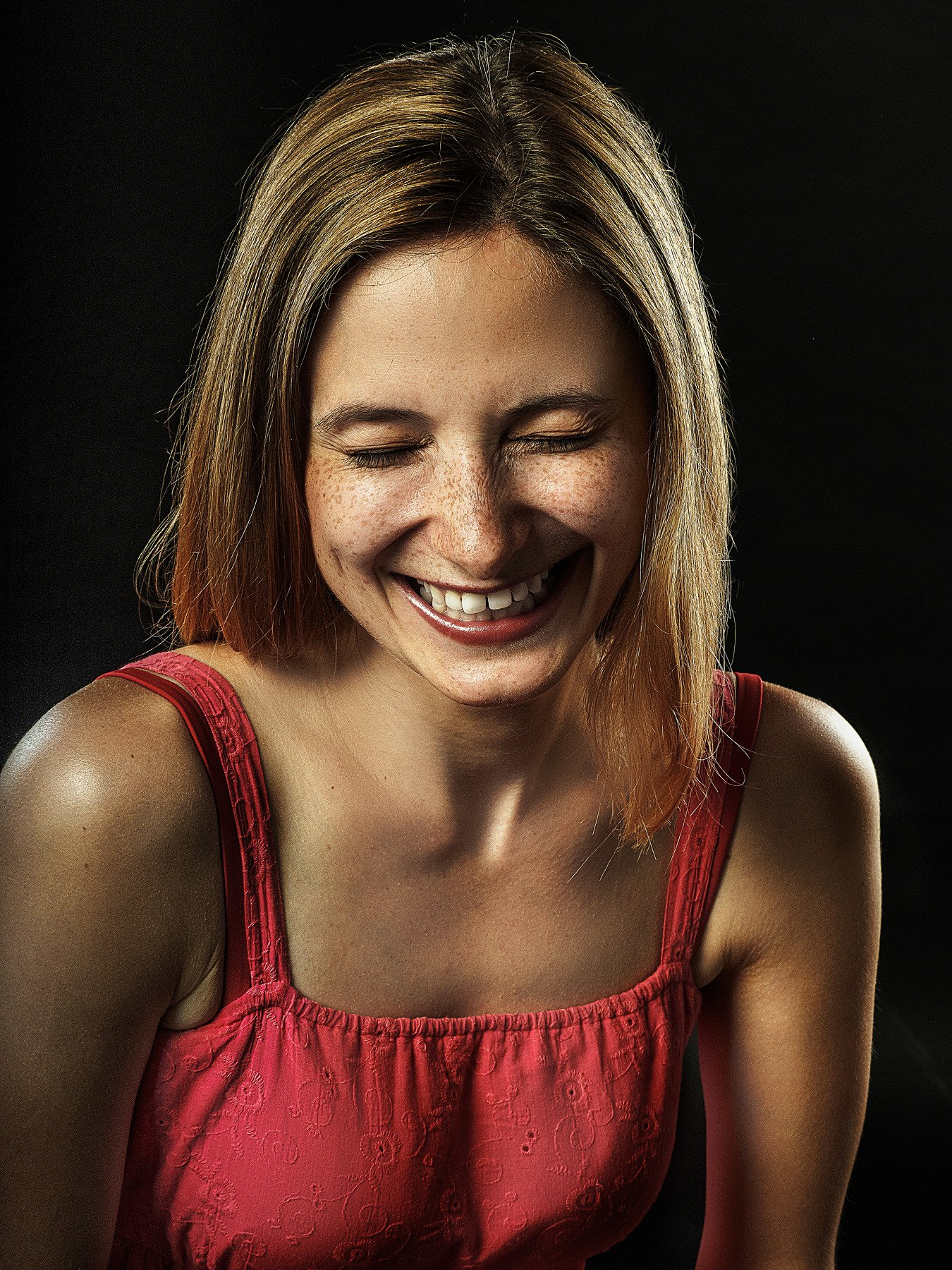 портрет, женщина, смех, Алексей Школдин