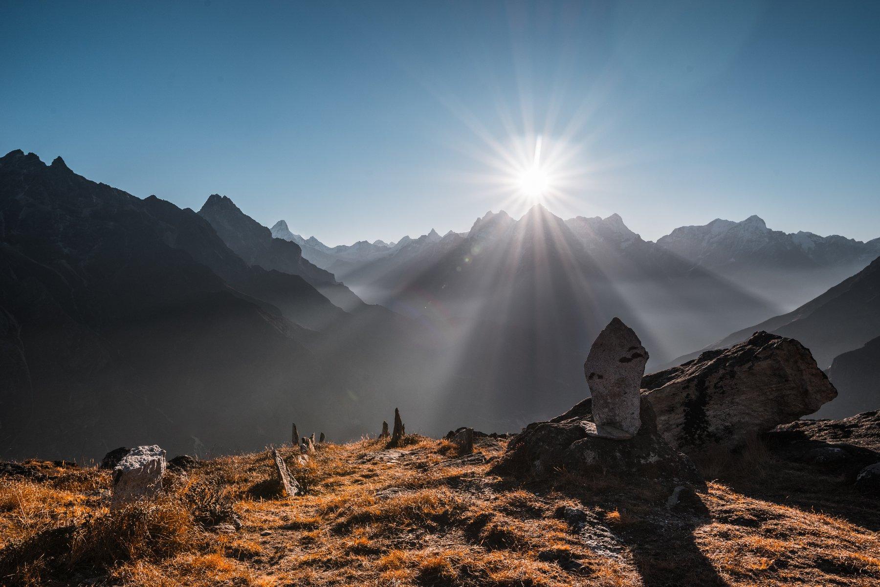 Непал, Гималаи, утро, солнце, Evgeniy Khilkevitch