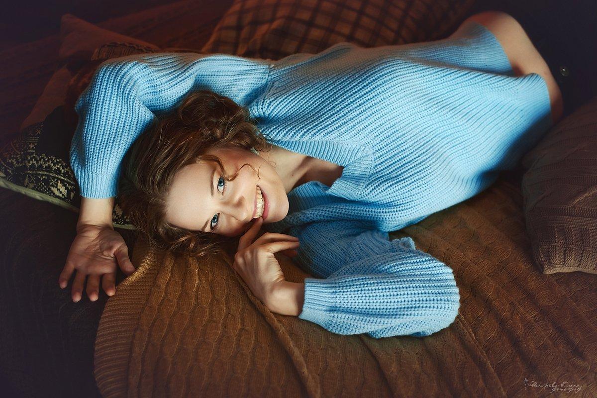 портрет, улыбка, девушка, Макарова Елена