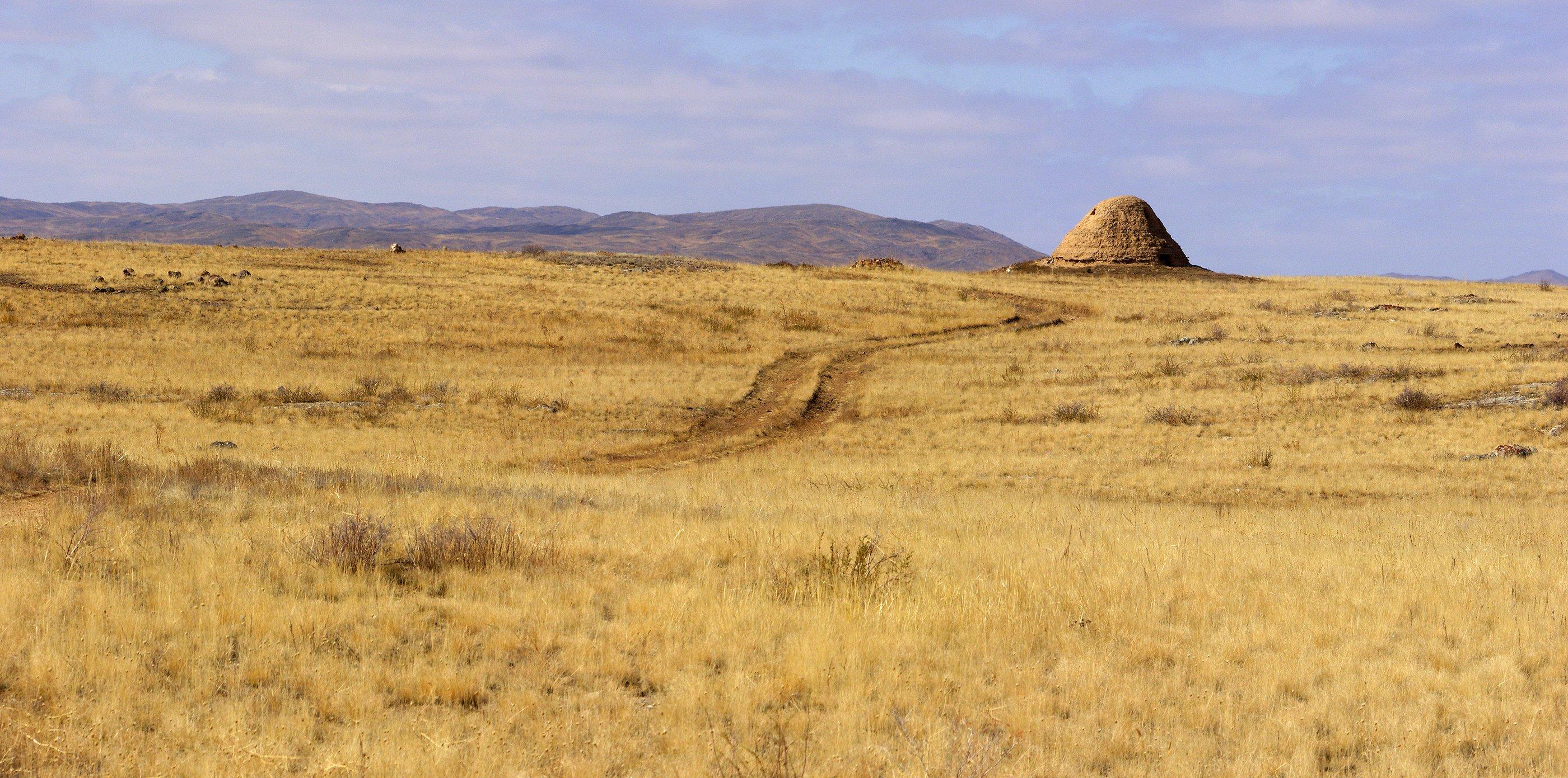 Казахстан, степь, Карагандинская область, Борис Резванцев