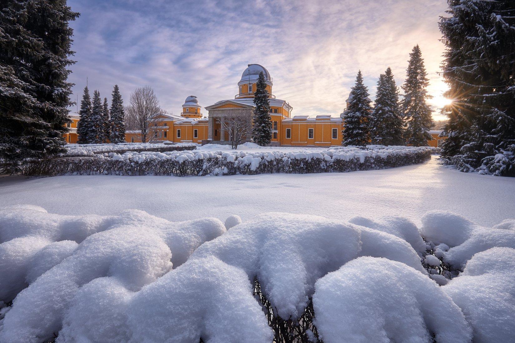 пулковская обсерватория, зима, пулково, снег, KrubeK