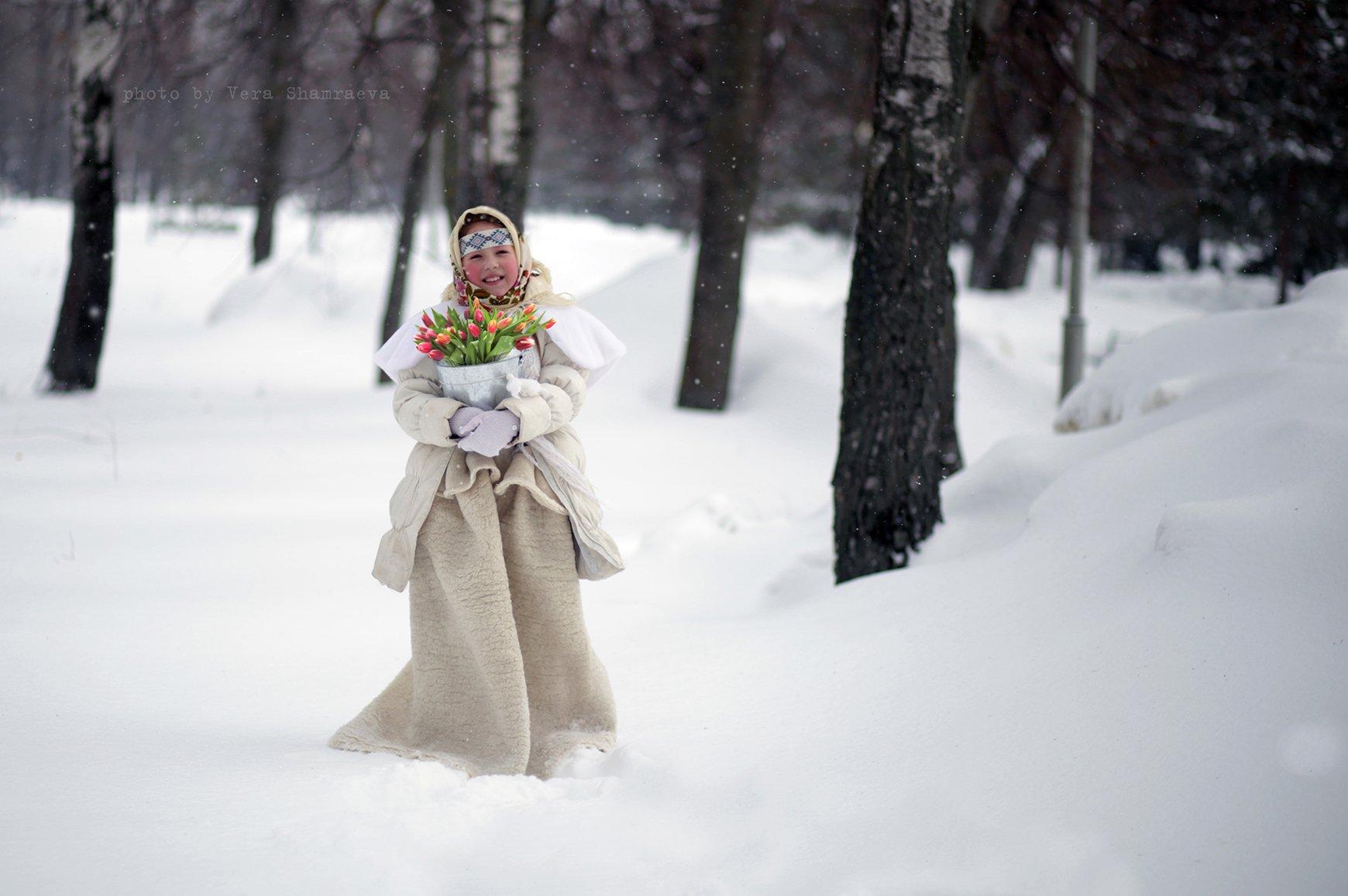 тюльпаны славянский стиль девочка, Вера Шамраева
