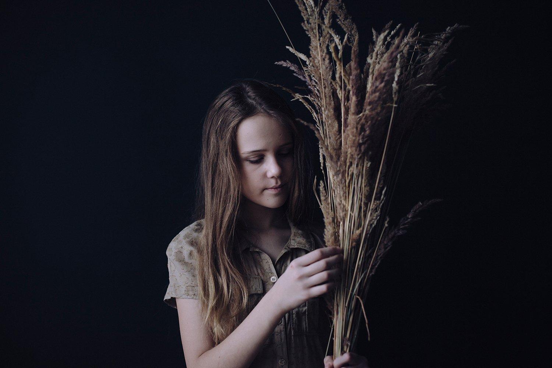 девушка, подросток, портрет, дети, Яна Динова