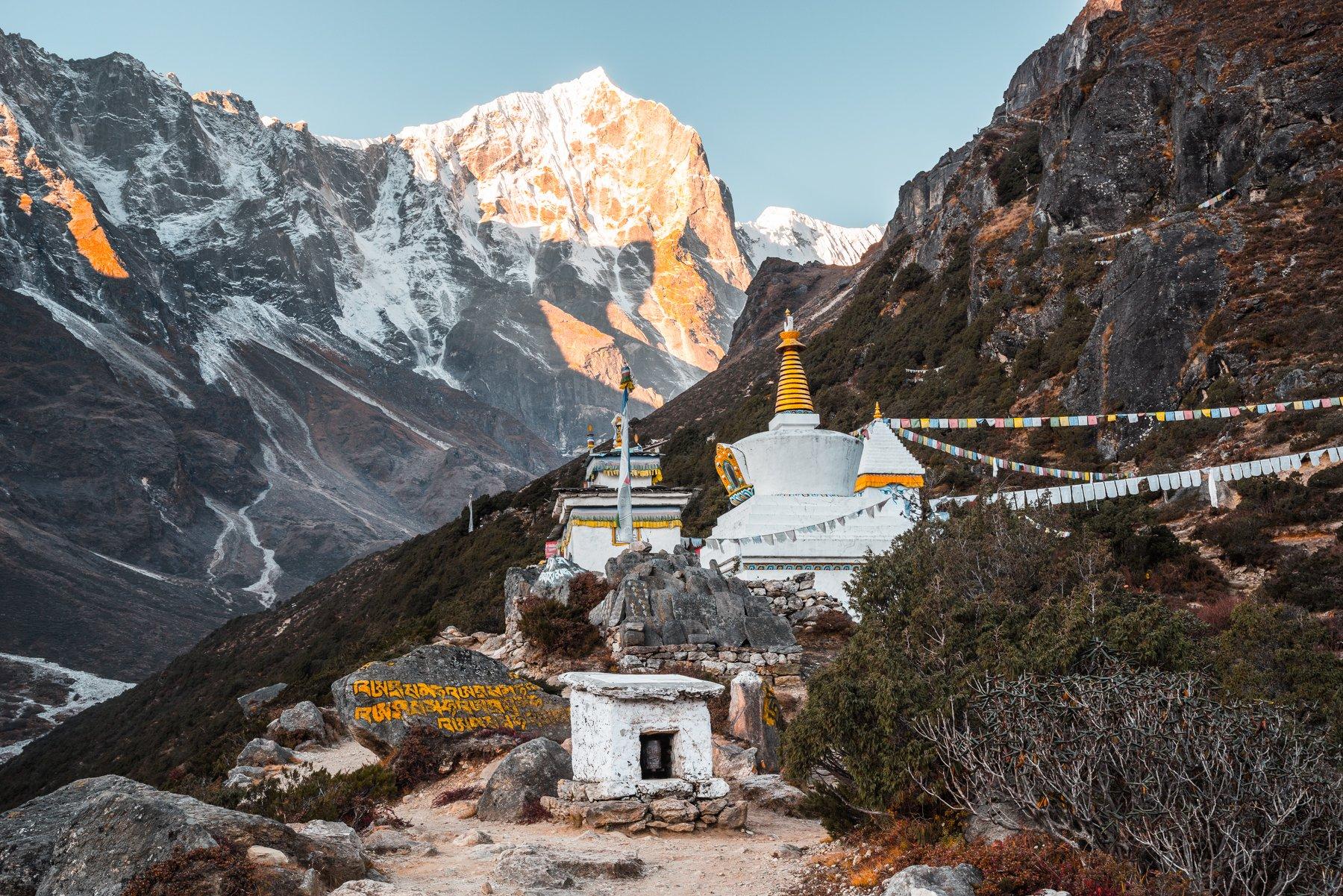 Гималаи, Непал, монастырь, ступа, горы, Evgeniy Khilkevitch