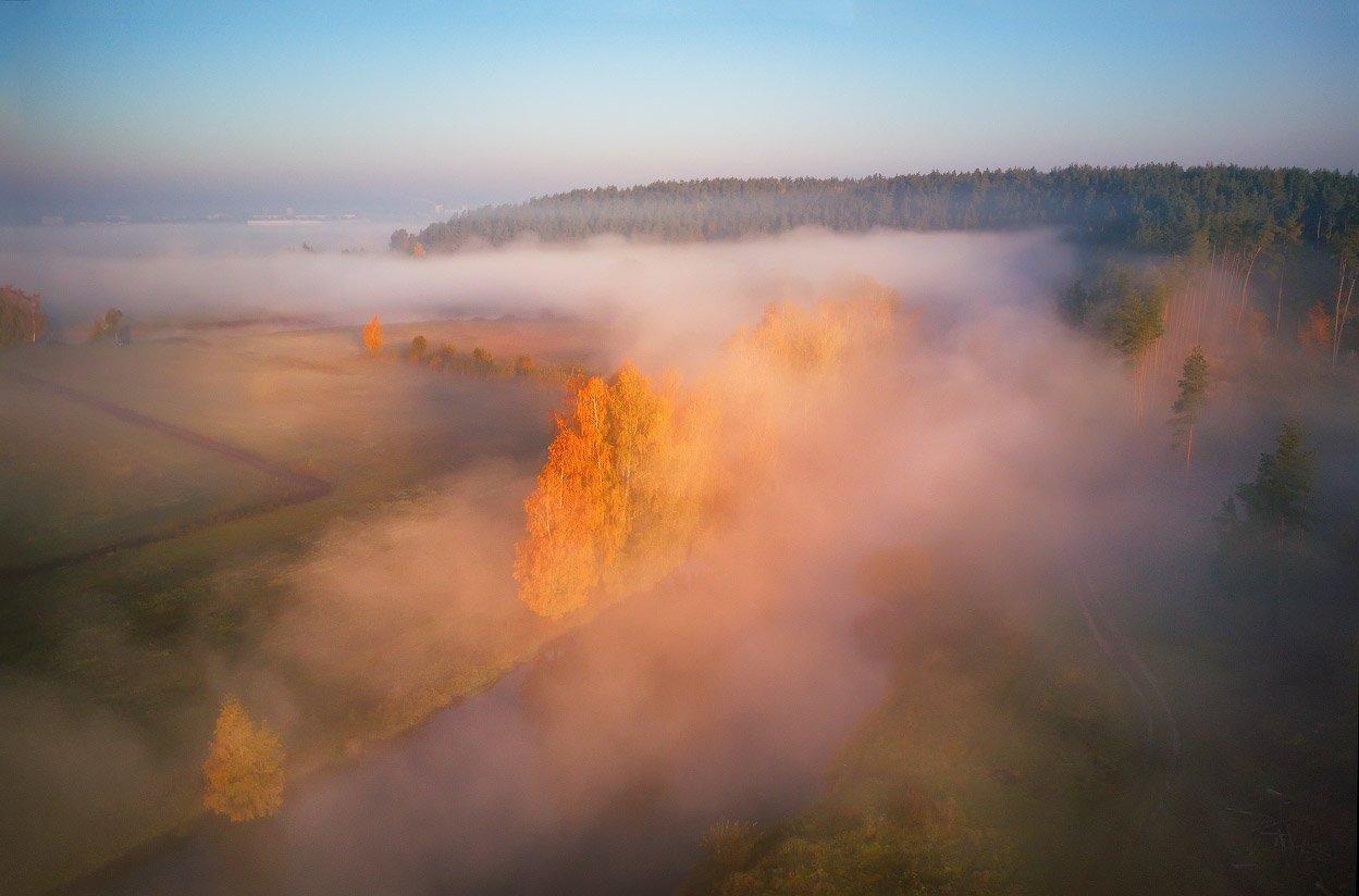 беларусь, минск и окрестности, октябрь, осень, река, свислочь, туман, утро, Вейзе Максим