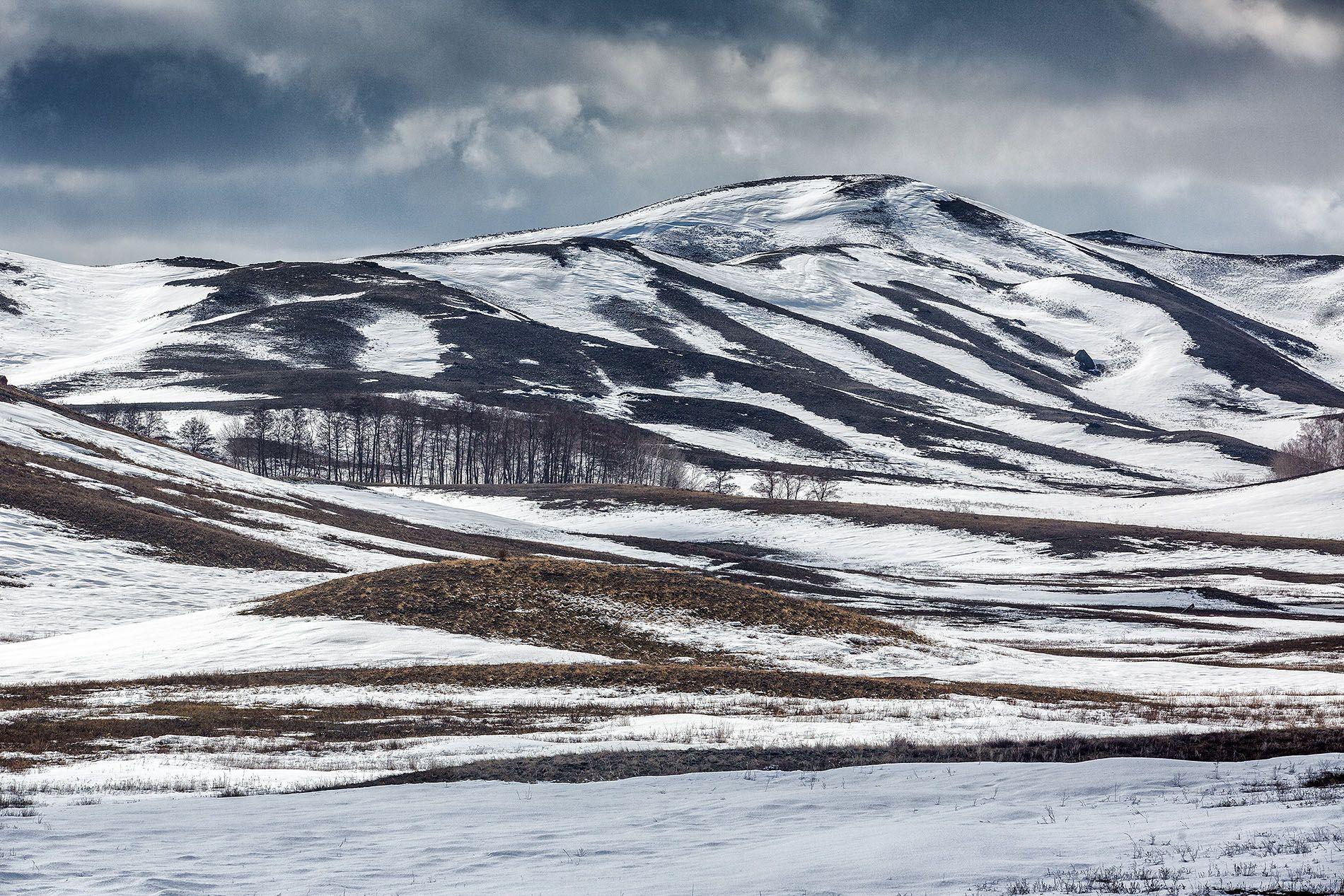 контрасты снег весна холмы, Качурин Алексей