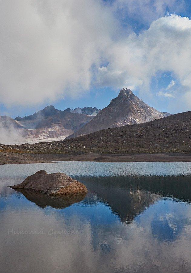 кавказ горы озеро камень, Николай Стюбко