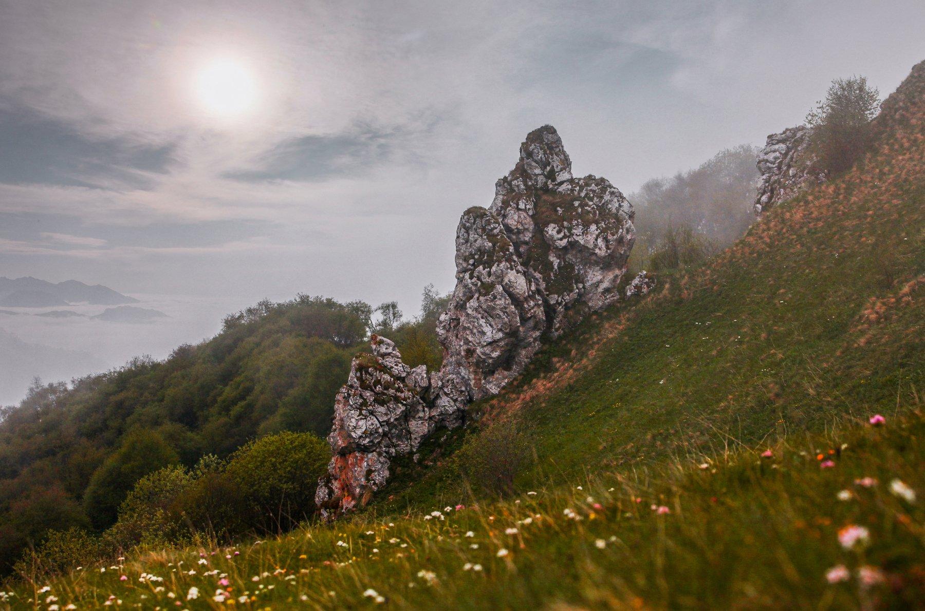 горы,лето,пейзаж,туман,закат, Марат Магов