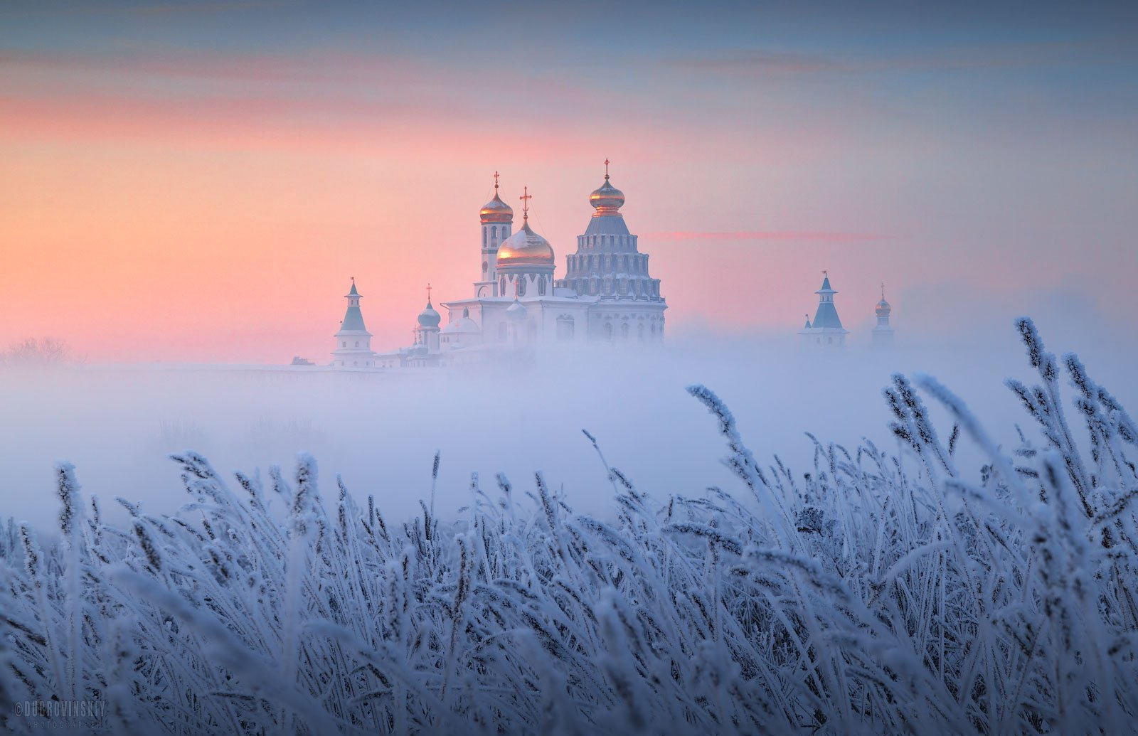 новый иерусалим, истра, монастырь, туман, иней, Дубровинский Михаил
