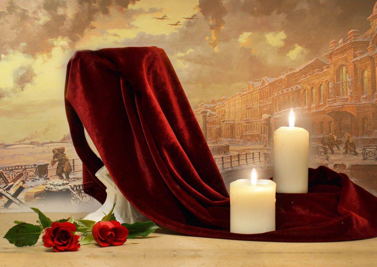 still life,натюрморт,январь, цветы, фото натюрморт, свечи, розы, зима, день памяти, 75 годовщина полного снятия блокады ленинграда, Колова Валентина