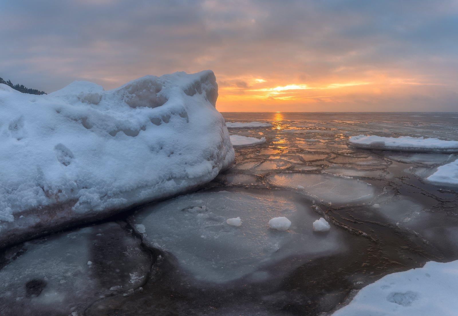 панорама пейзаж зима латвия, Алексей Мельситов