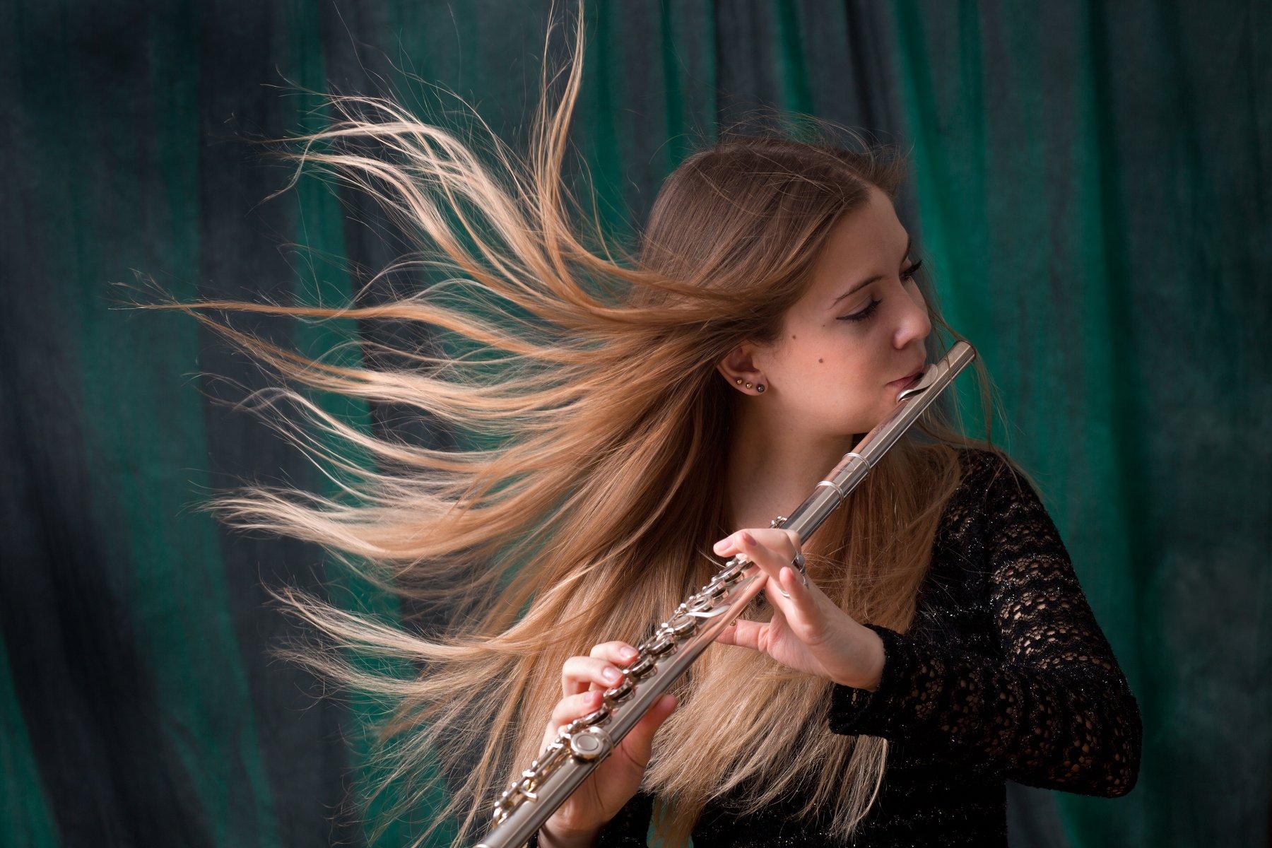 портрет, флейта, музыка, девушка, артистка, красота, искусство, фото, Олег_Грачёв,Oleg_Gracev, art, beauty,canon,canonlens,, Грачёв Олег