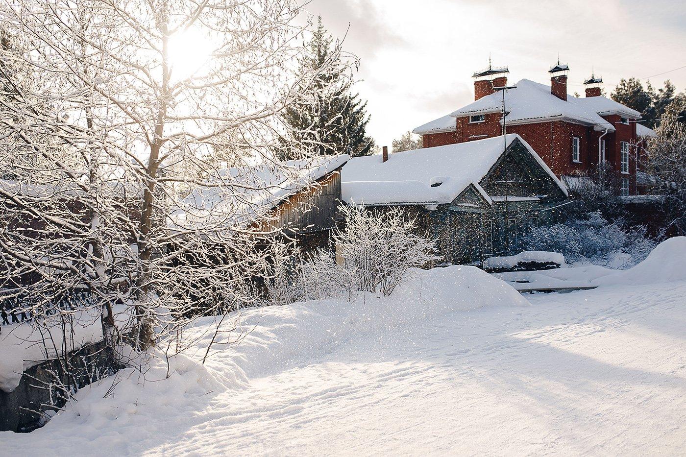 зима, снег, урал, улица, дом, снежный, Евгений Толкачёв