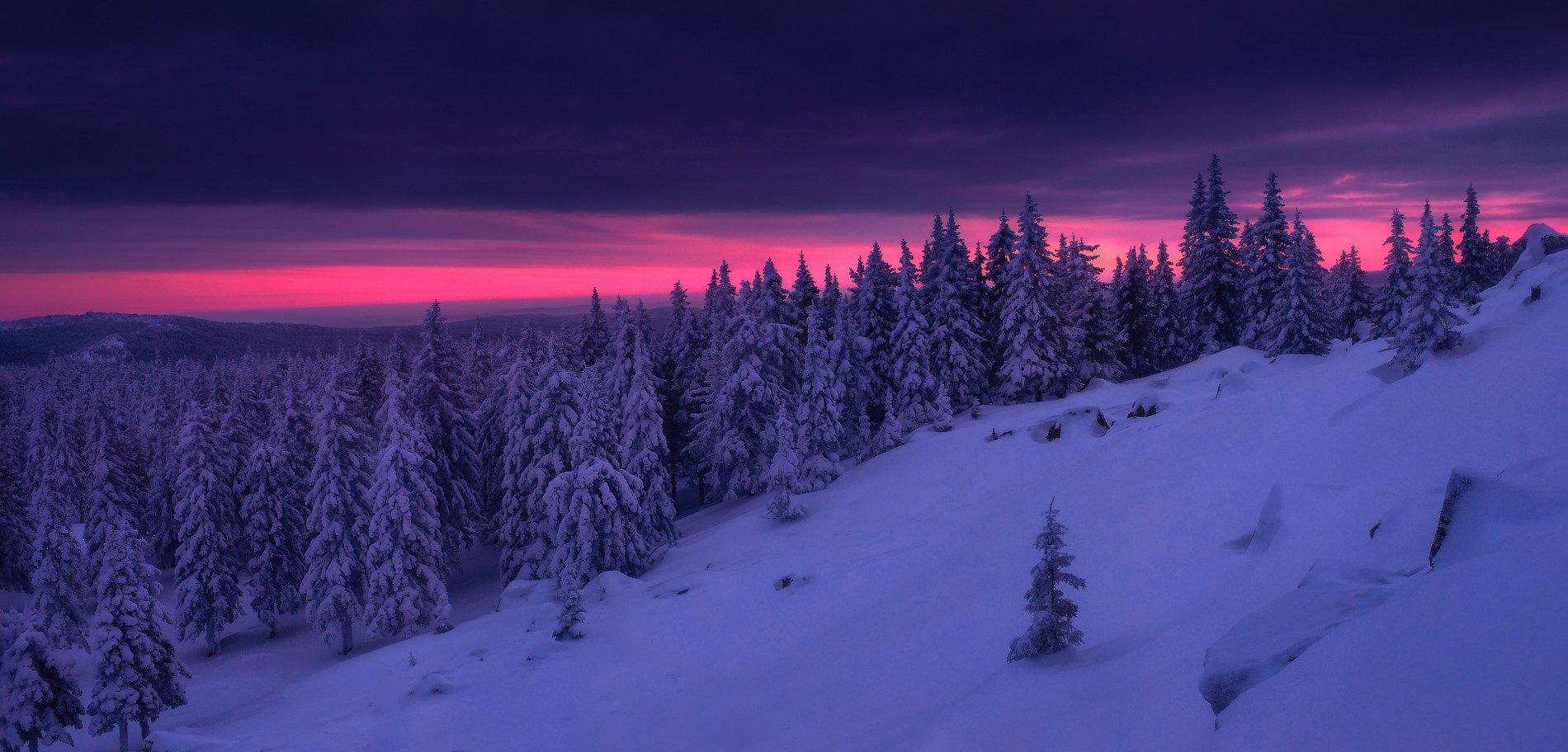 урал, таганай, зима, горы, Владимир Ляпин