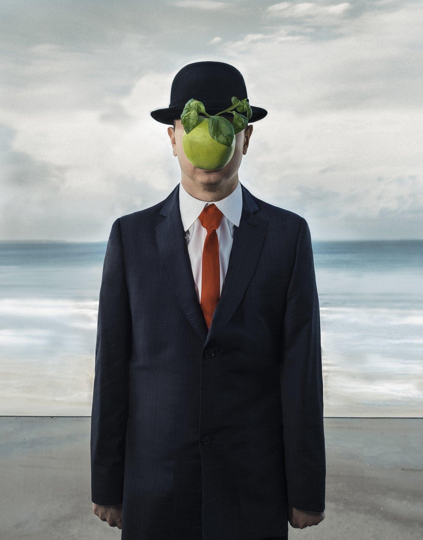 Магритт Рене, картина с яблоком, аллюзия на живопись, Маргарита Орбелян