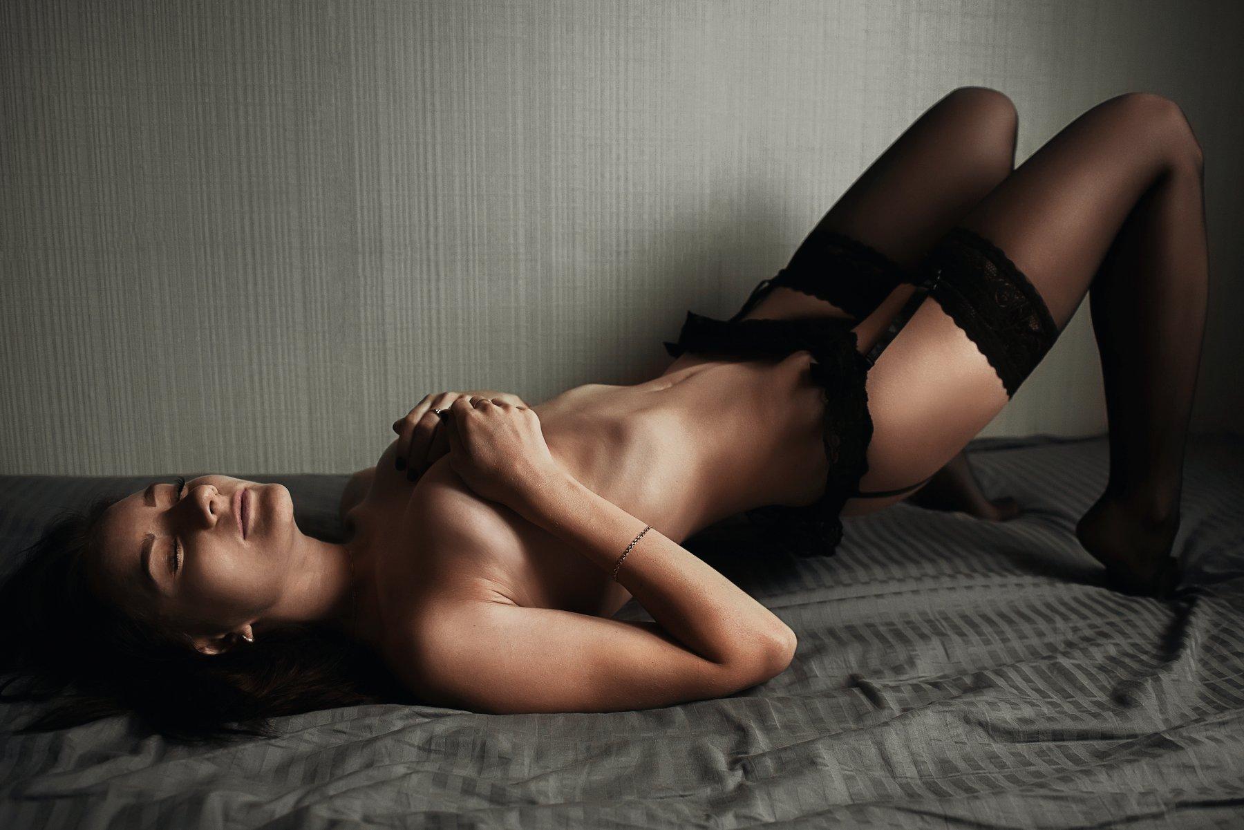 девушка, белье, голая, портрет , Некрасов Сергей