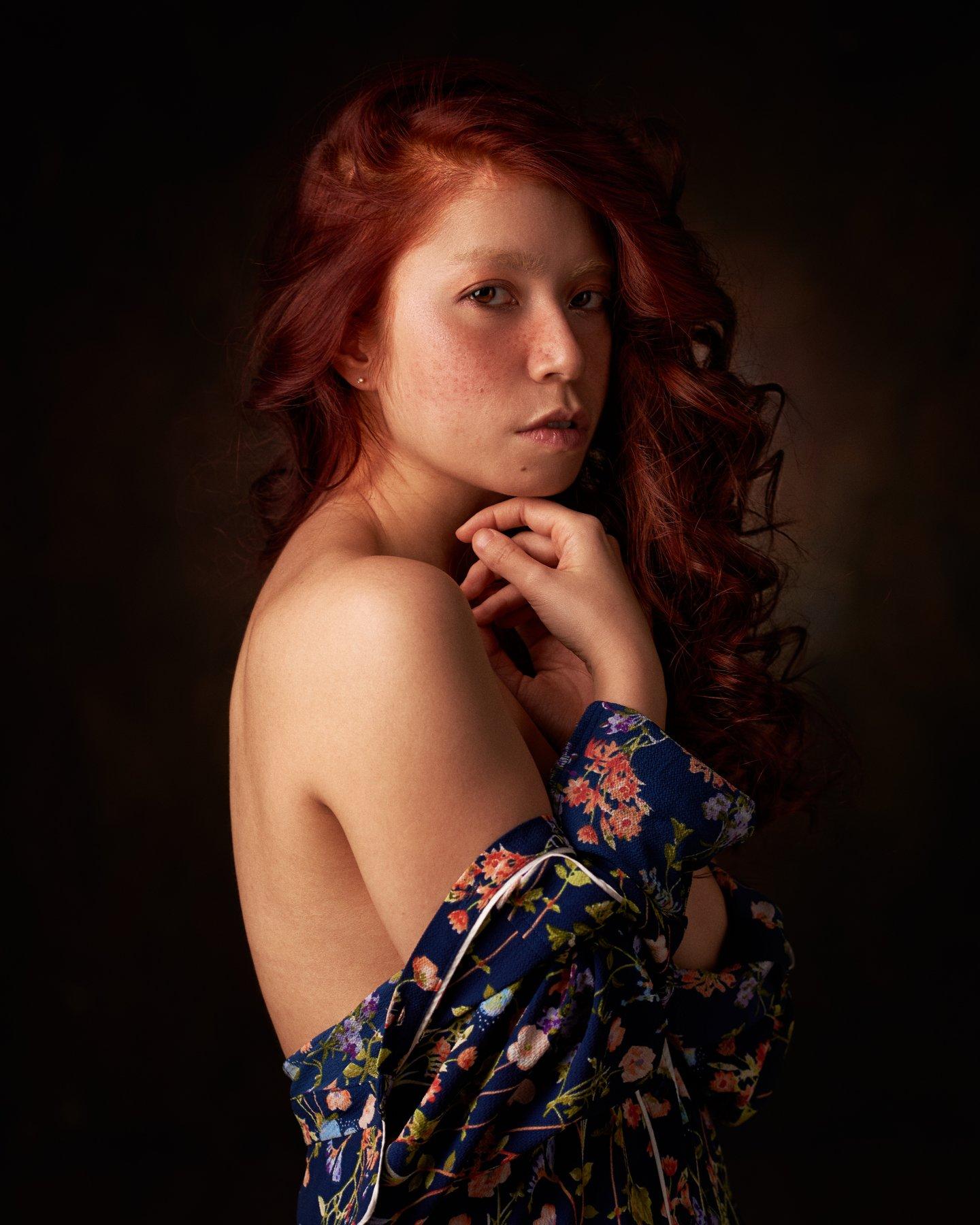 pyzhikphoto, портрет, классика, классический портрет, портрет девушки, женский портрет, portrait, classic, art, красавица, фото, девушка, рыжая, веснушки, глаза, Пыжик Максим