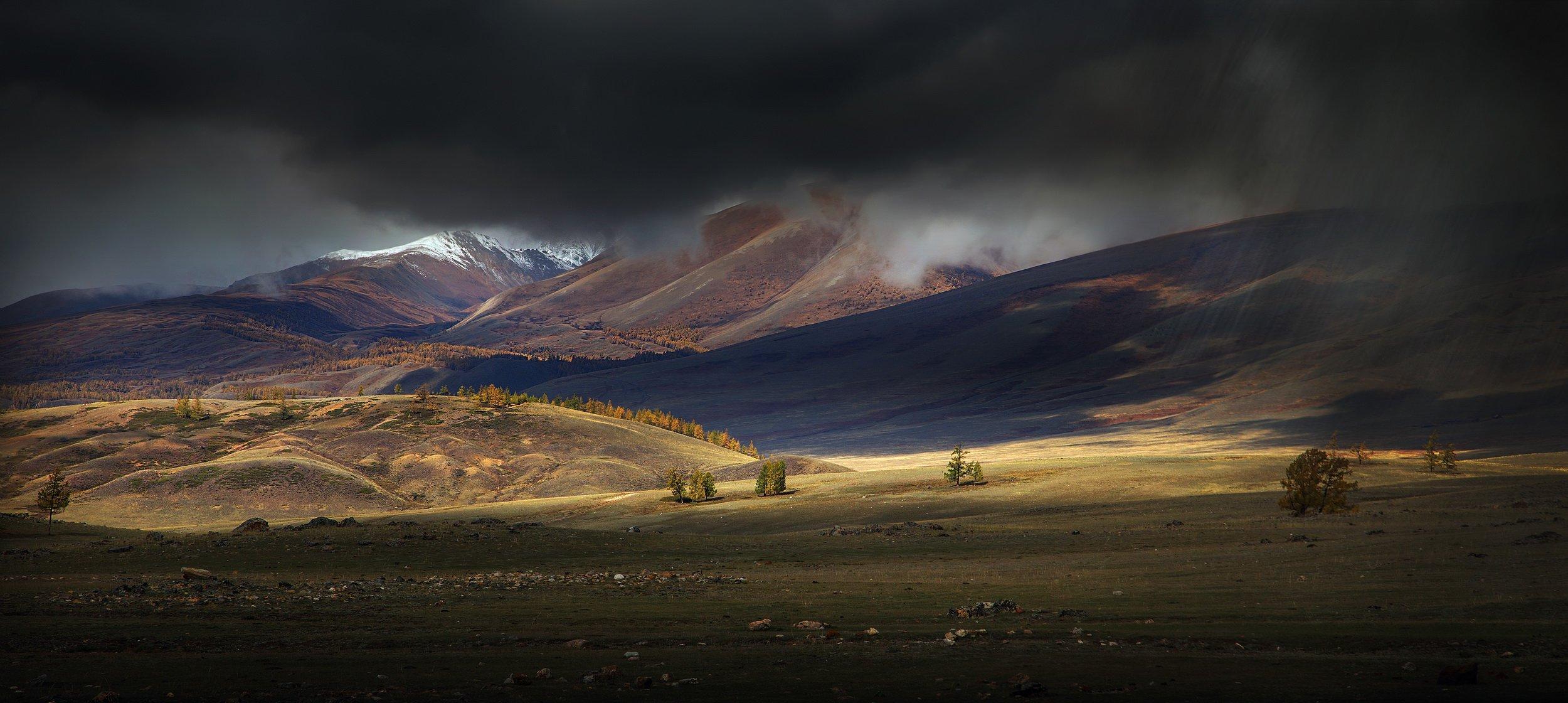 алтай, курай, путешествие, гроза, дождь, солнце, пейзаж, горы,, Художников Павел