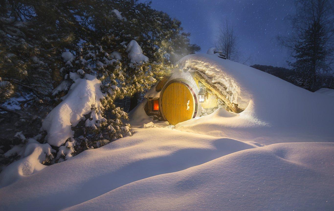 зима, снегопад, 2019, хоббитон, winter 2019, Андрей Чабров