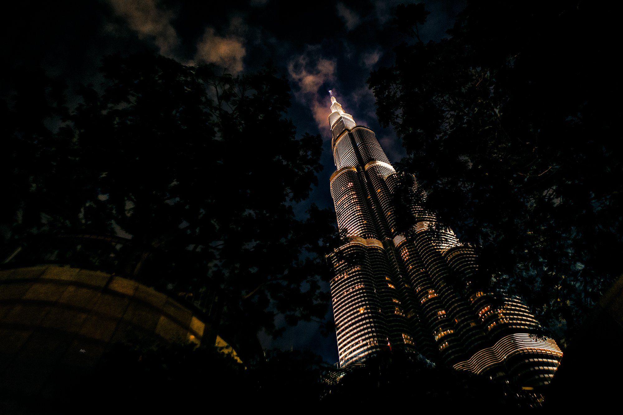 city, night, light, burj-kgalifa, uae, Руслан Болгов (Axe)
