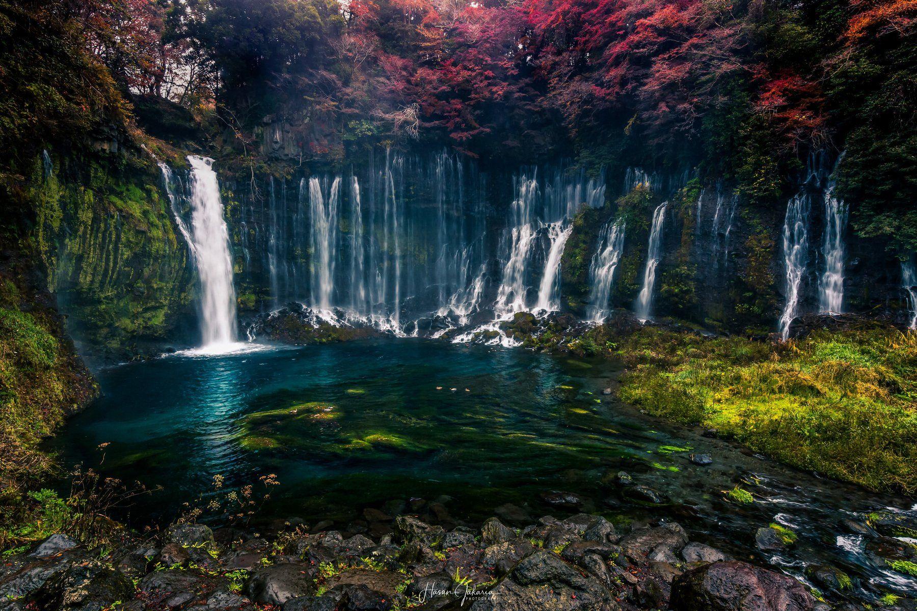 waterfalls landscape nature travel rocks autumn colors japan mt.fuji, Hasan Jakaria