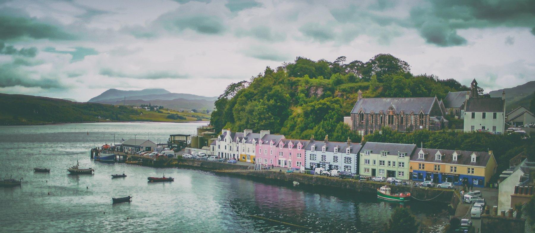 Portree evening. Scotland.Isle of Skye, Lilia Tkachenko
