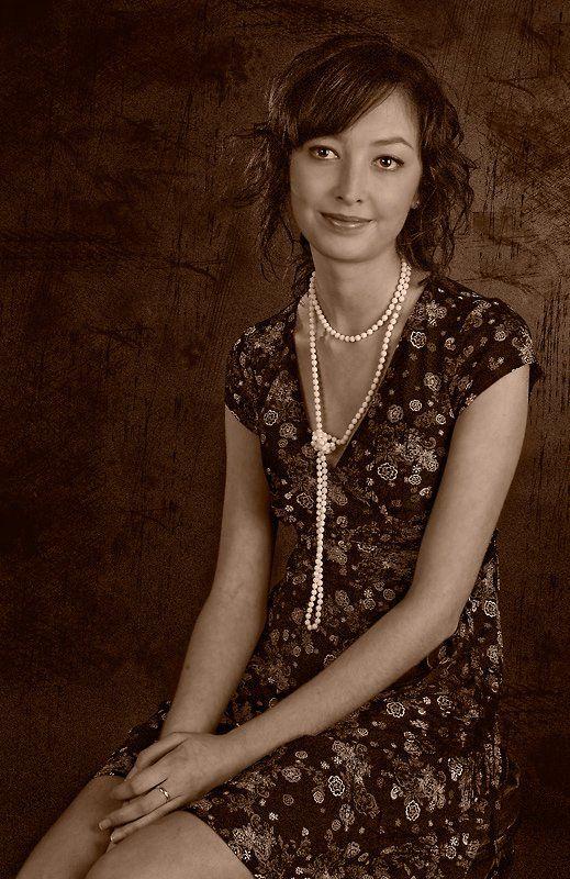 девушка глаза бусы, Anna Fomicheva [nusha]
