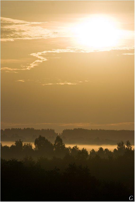 талашкино, рассвет, солнце, даль, туман, Gorshkov Igor_Feanorus