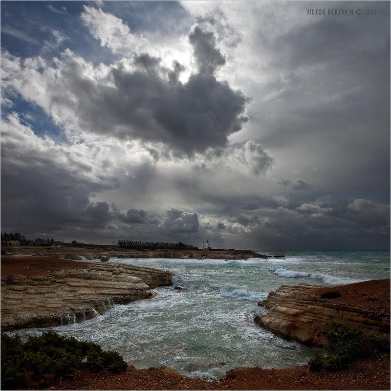 кипр, бухта, прибой, кипрское, море, средиземноморье, волны, скалы, Виктор Перякин