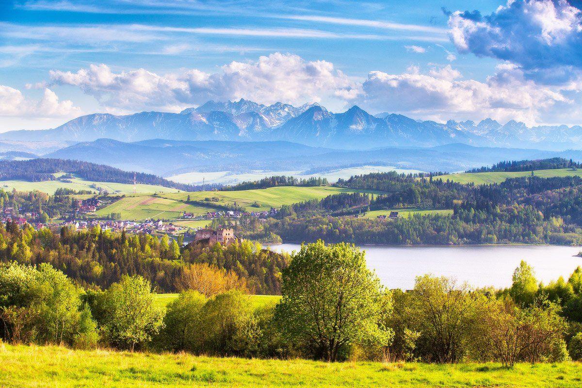 апрель, весна, вечер, горы, европа, польша, татры, Вейзе Максим