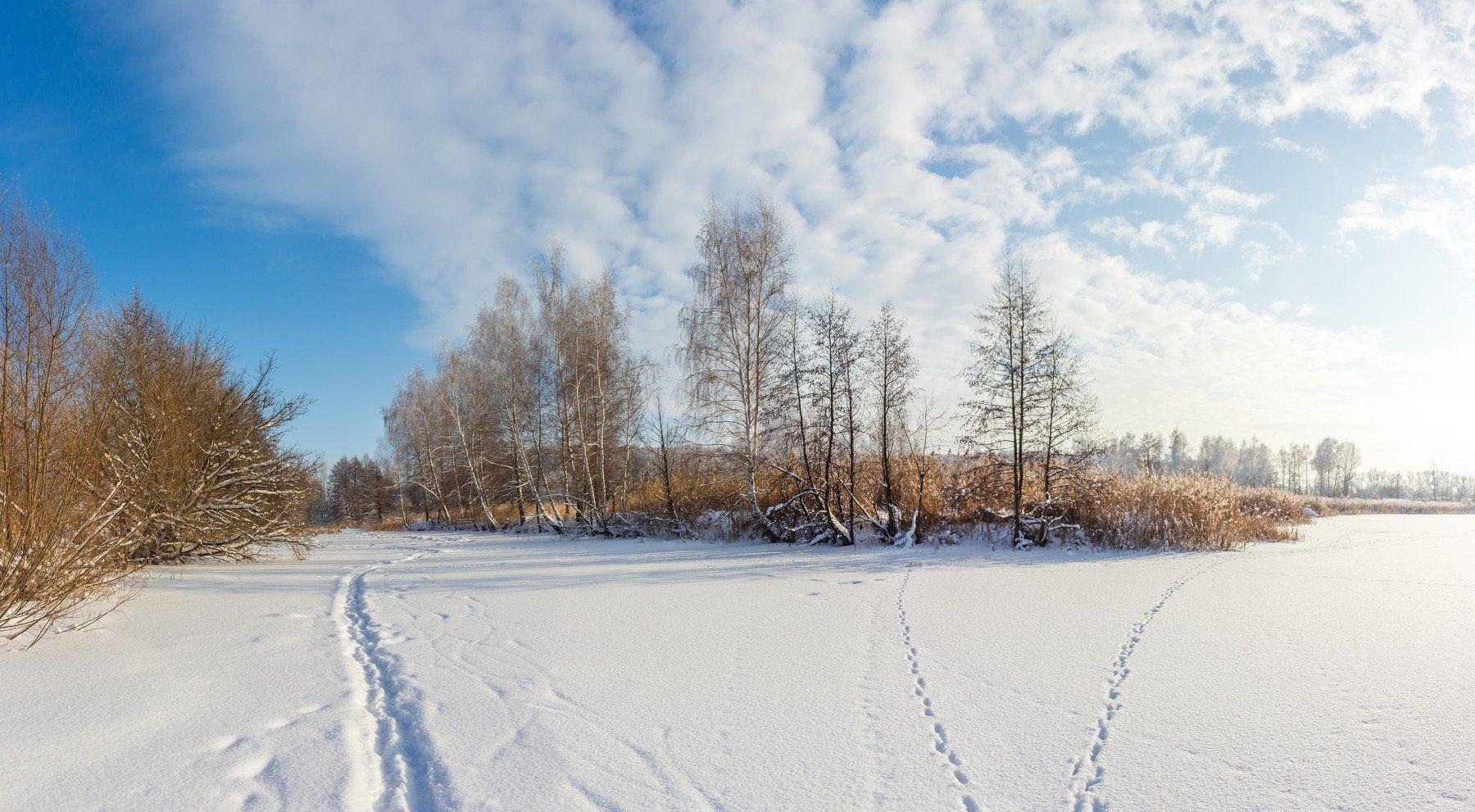 лес, зима, мороз, снег, река, Руслан Востриков