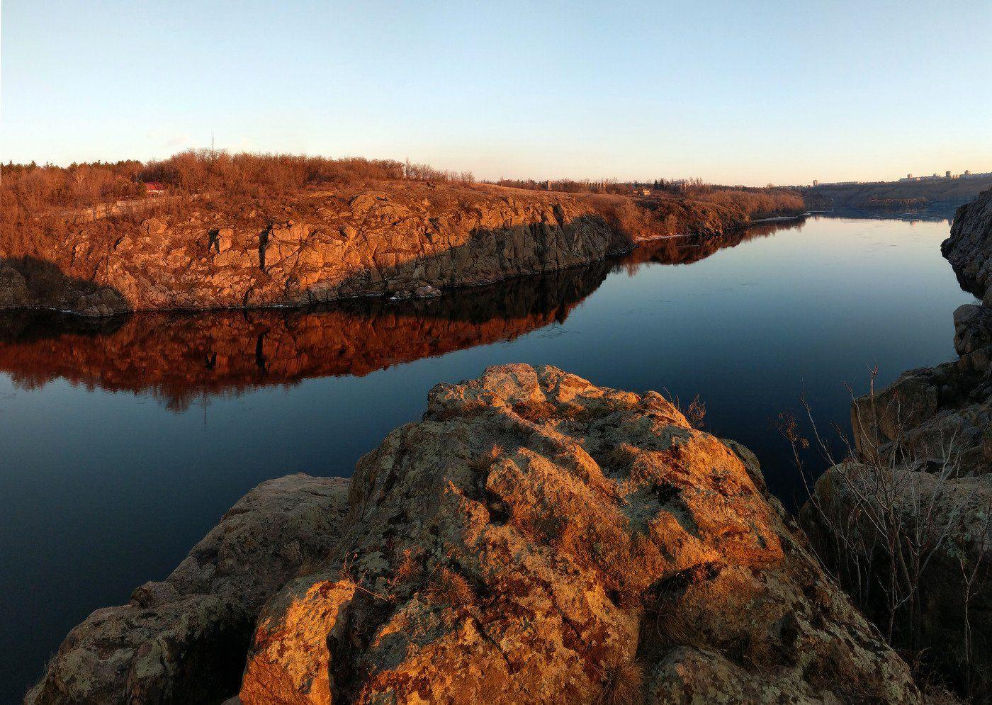 река,днепр,пейзаж,скалы,берег,landscape,хортица, Сергей Богачёв