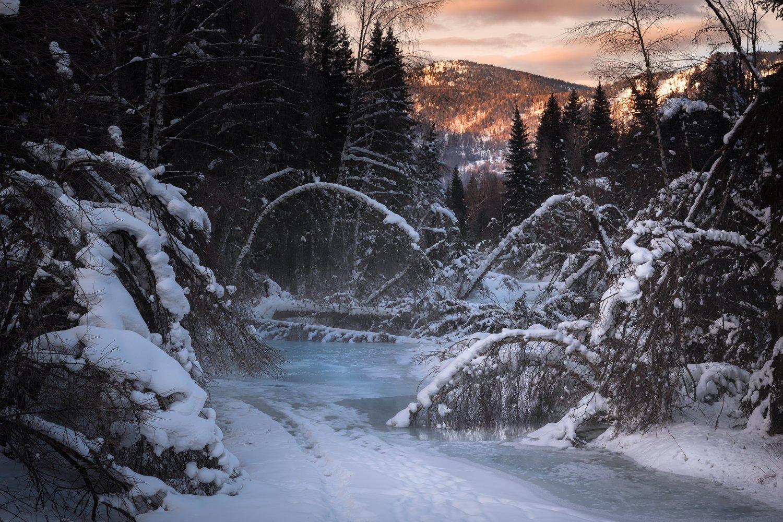 #алтай #река #республикаалтай #зима #горы #зимавгорах #устькокса #сибирь #природаалтая, Денис Соломахин