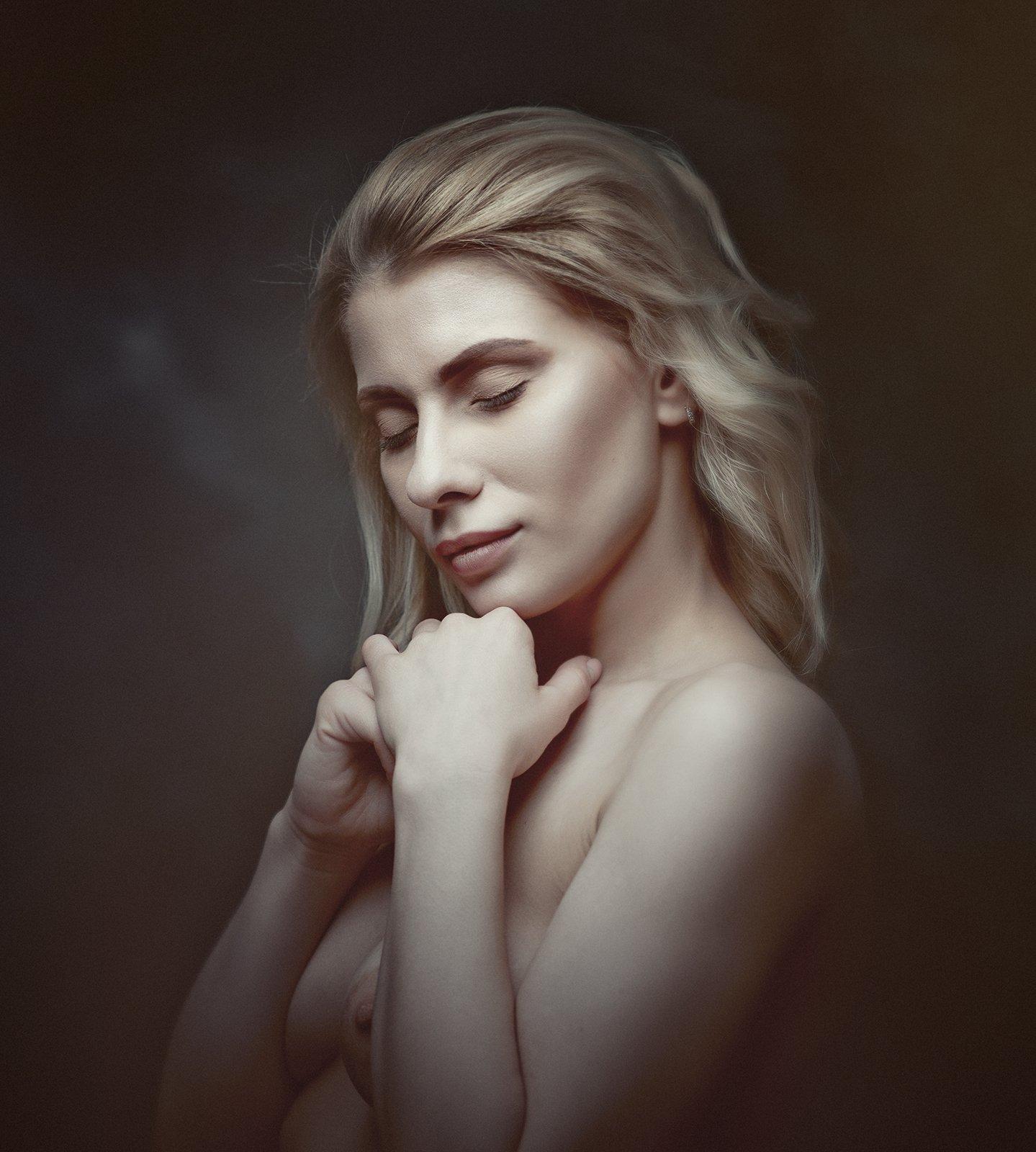 blonde, female, beauty, portrait, nude, naked, sensual, sensuality, feminine, woman, adult, adorable, mood, people, Дмитрий Толоконов