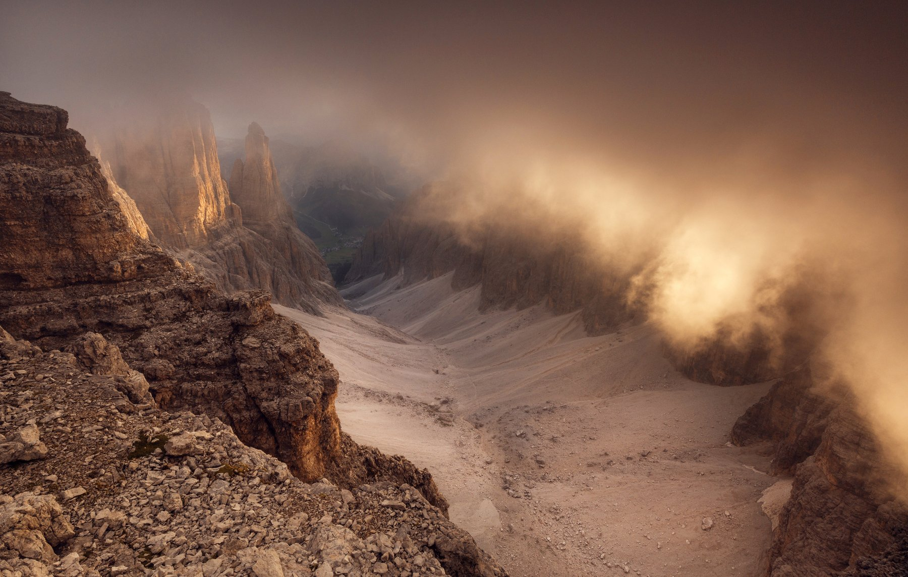 mountains, dolomites, italy, sunrise, landscape, nature, travel, summer, peak, clouds, Lazar Ioan Ovidiu