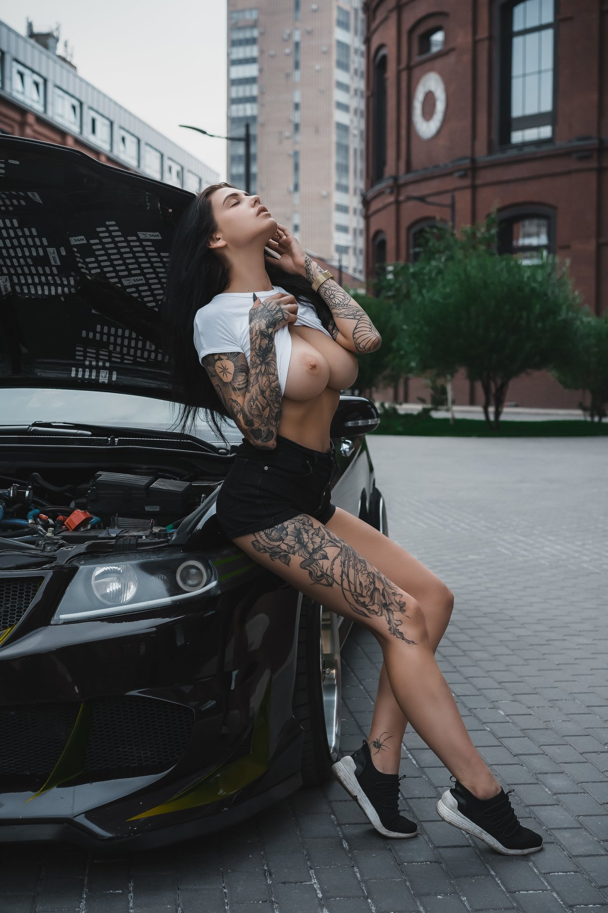 nude girl russian light topless tattoo tits, Пистолетов Илья