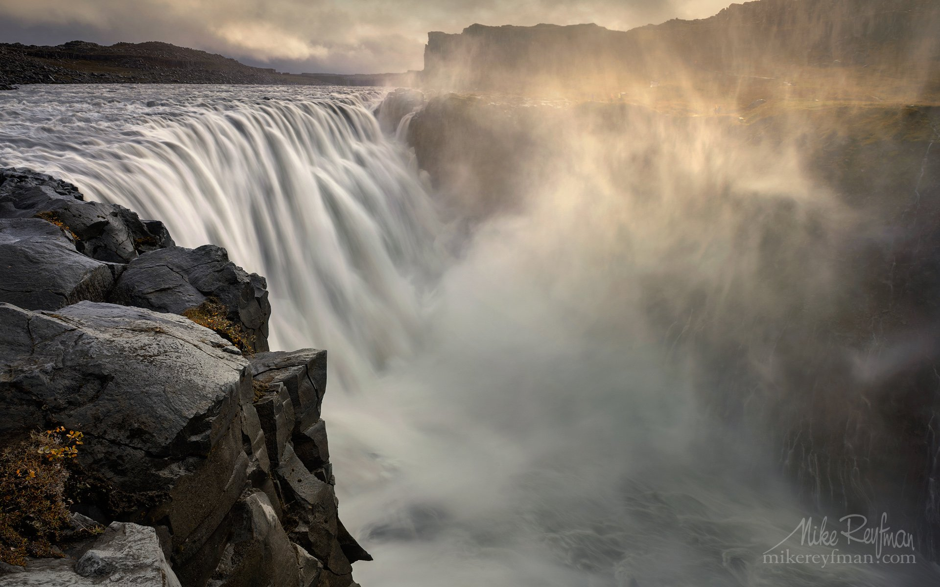 dettifoss, vatnajökull national park, northeast iceland, powerful, waterfall, europe,  jökulsá á fjöllum, river, Майк Рейфман