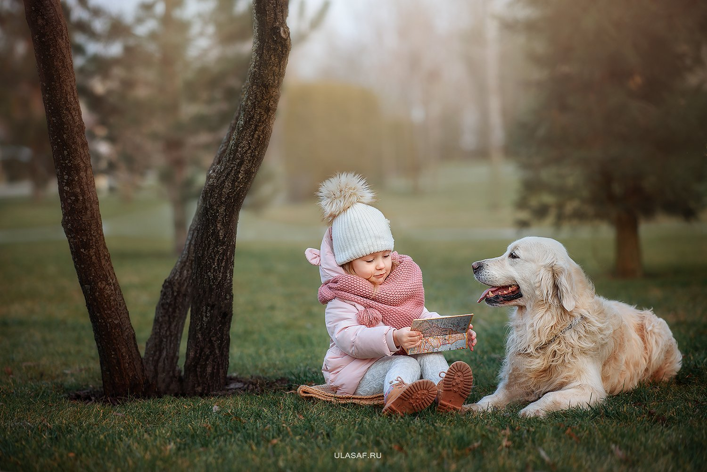 портрет, зима, winter, дети, прогулка, фотосессия на природе, девочка, girl, животное, собака, ретривер, dog, малыш, ребенок, друзья, happy, фотопрогулка, любовь, love, happiness, сказка, волшебство, Юлия Сафо