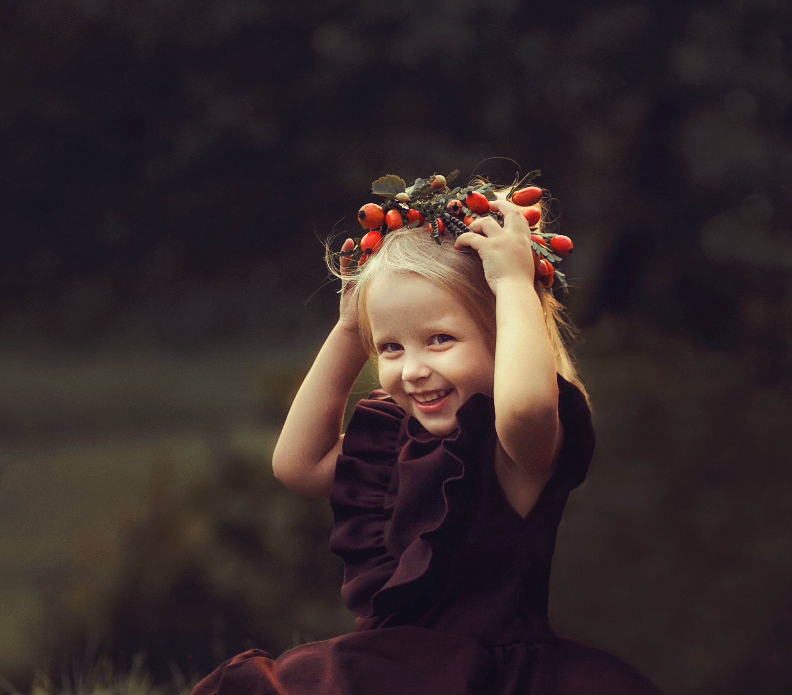 детский портрет, венок, девочка, портрет, Светлана Червинская