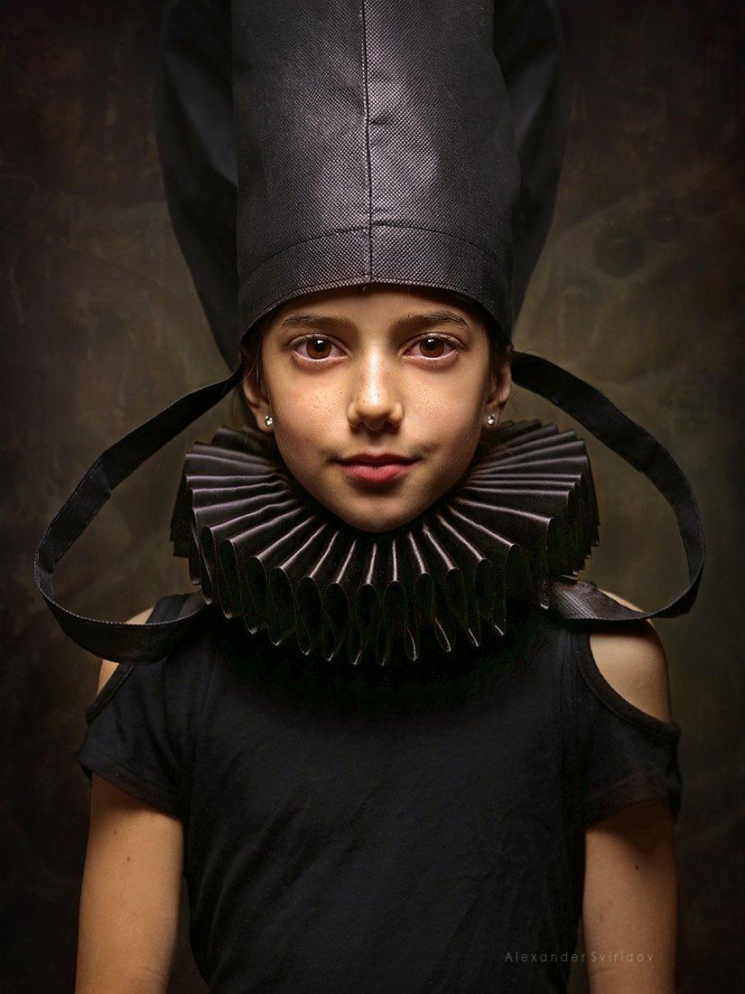 girl beauty portrait masterpiecere naissance old masters, Alexander Sviridov