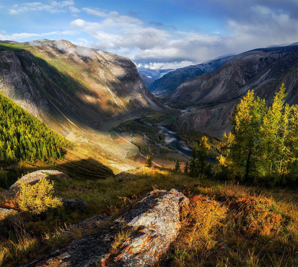 природа, пейзаж, горы, алтай, горный алтай, сибирь, чулышман, осень, дикая природа,, Беляев Альберт