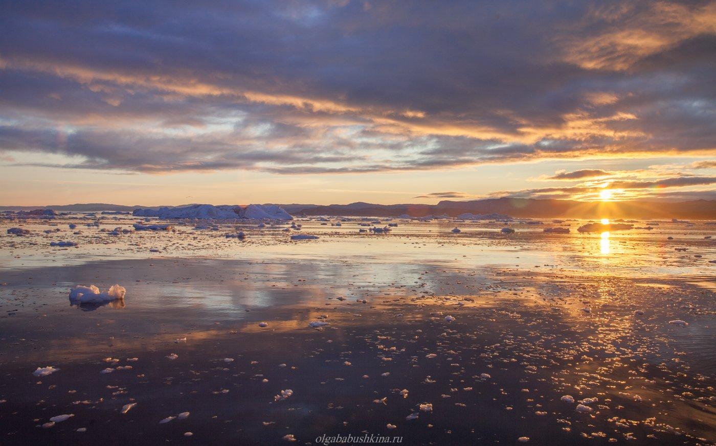 арктика, гренландия, arctic, greenland, sunrise, рассвет, фотопутешествие, фототур, Бабушкина Ольга