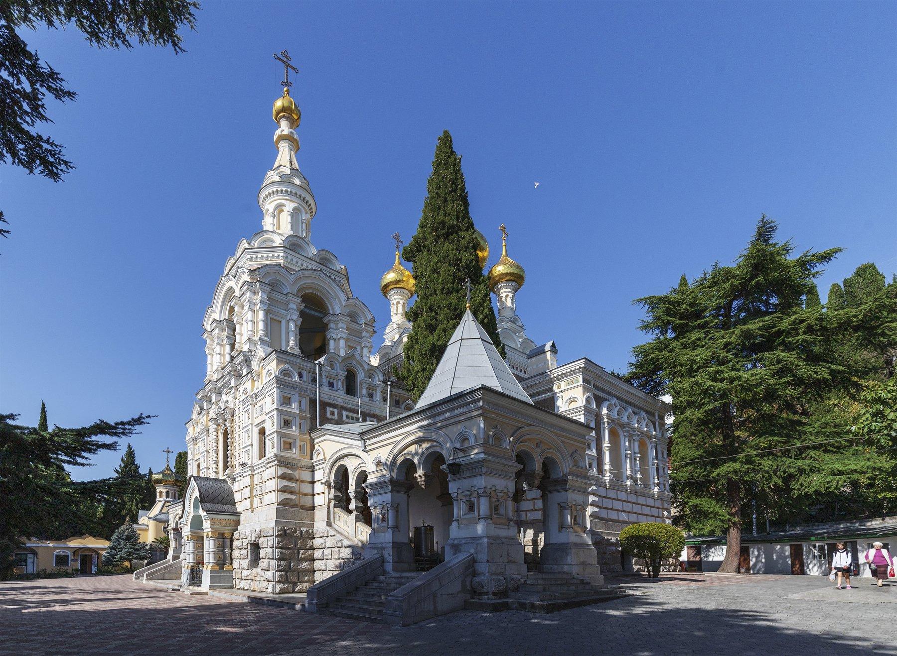 храм, крым, архитектура, православие, собор, пейзаж, Левко Юрий