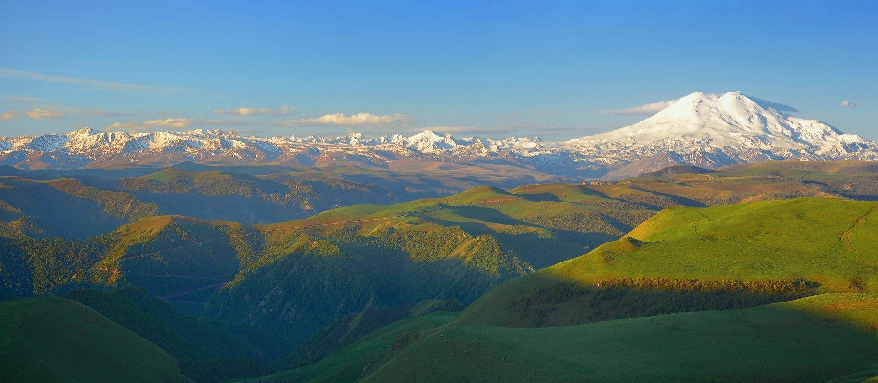 горы лето утро эльбрус, Александр Жарников