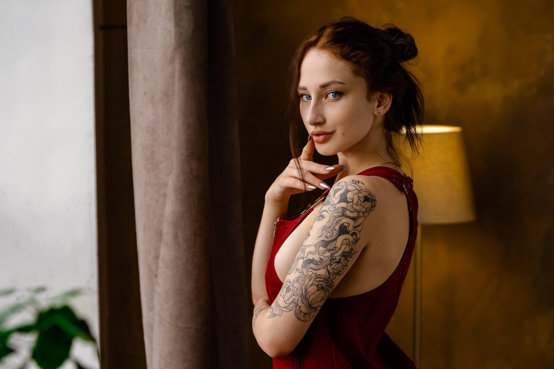 girl nude studio daylight portrait, Пистолетов Илья